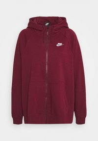 Nike Sportswear - HOODY - Zip-up hoodie - dark beetroot/white - 0