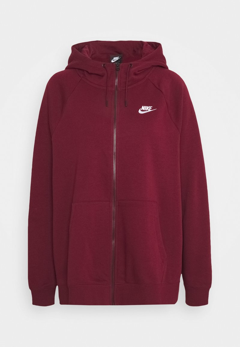 Nike Sportswear - HOODY - Zip-up hoodie - dark beetroot/white
