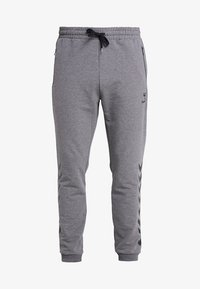 Hummel - RAY - Tracksuit bottoms - dark grey melange - 4
