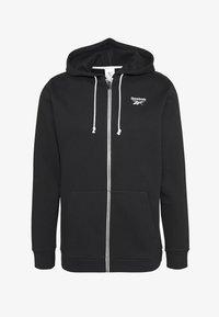 Reebok - HOODIE - Zip-up hoodie - black - 0