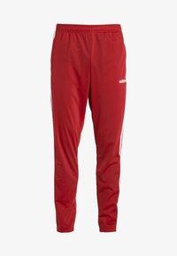adidas Performance - 3 STRIPES SPORTS REGULAR PANTS - Träningsbyxor - red/white - 3