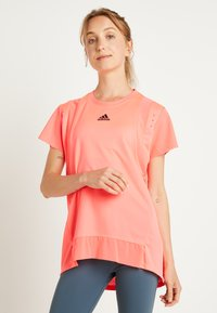 adidas Performance - TEE H.RDY - T-shirts med print - pink - 0
