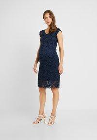 MAMALICIOUS - MLNEWMIVANA CAP DRESS - Jersey dress - navy blazer - 1