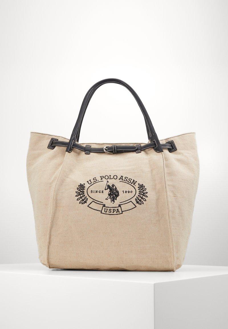 U.S. Polo Assn. - ELMORE - Tote bag - natural/black
