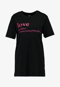 Merchcode - LOVE DEFINITION TEE - Camiseta estampada - black - 3
