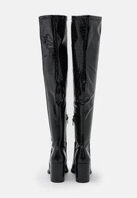 Steve Madden - JACEY - Kozačky nad kolena - black - 3