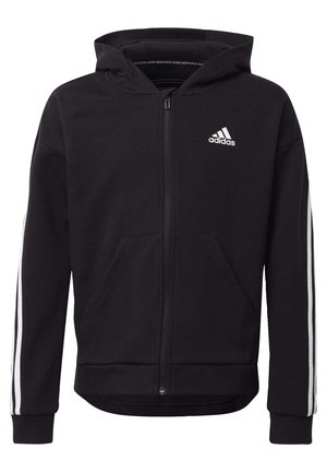 3 STRIPES GIRLS IN POWER TRACK HOODIE - Zip-up hoodie - black