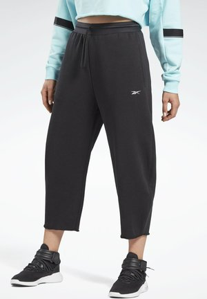 FLEECE WORKOUT - Pantalones deportivos - black