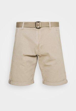 KAISER CHINO EXCLUSIV - Shorts - greige