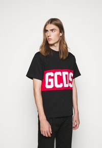 GCDS - BAND LOGO TEE - Print T-shirt - black - 0