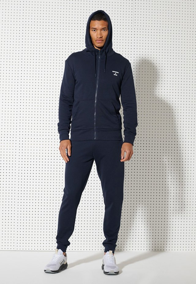 veste en sweat zippée - nautical navy