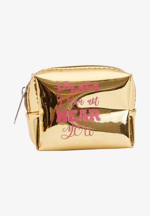 Wash bag - gold