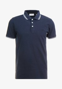 CONTRAST PIPING - Polo shirt - navy