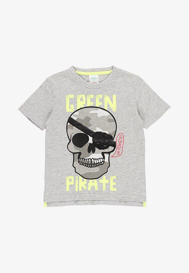 T-shirt imprimé - melange grey