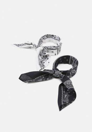 BANDANA UNISEX 2 PACK - Šátek - black/white