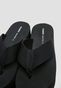 PULL&BEAR - T-bar sandals - black - 4