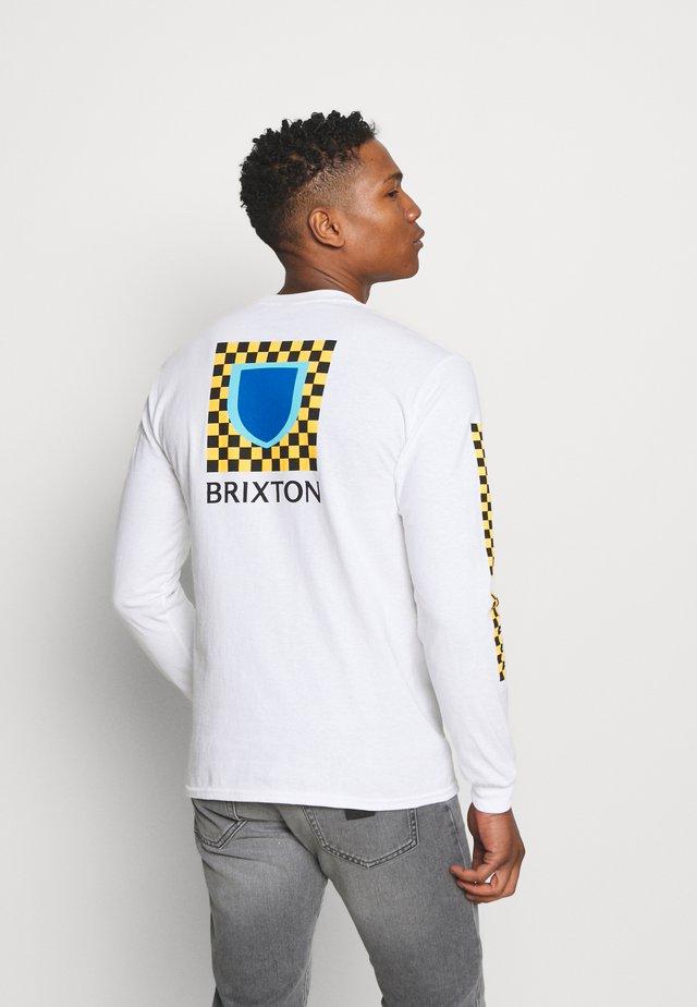 BETA CHECKERS - Maglietta a manica lunga - white