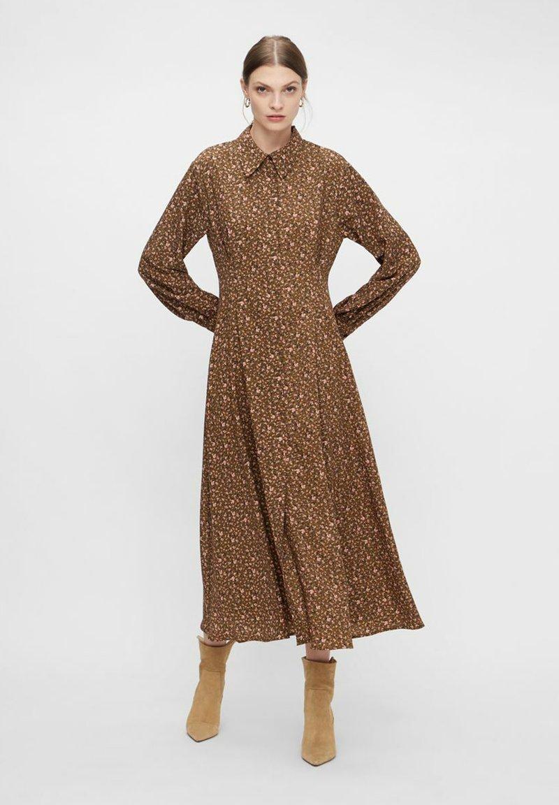 YAS - MIT LANGEN ÄRMELN YASLALLA - Shirt dress - capulet olive