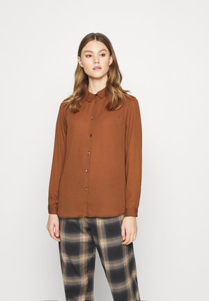 VILUCY BUTTON - Button-down blouse - tortoise shell