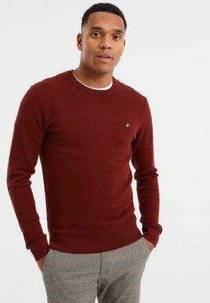 MET STRUCTUUR - Trui - burgundy red