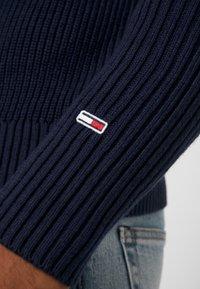 Tommy Jeans - TEXTURED MOCK  - Jumper - black iris - 5