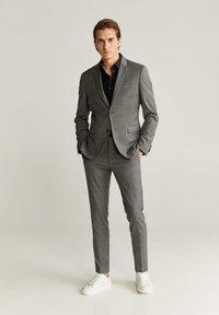 Mango - SUPER SLIM-FIT - Camicia elegante - noir - 1