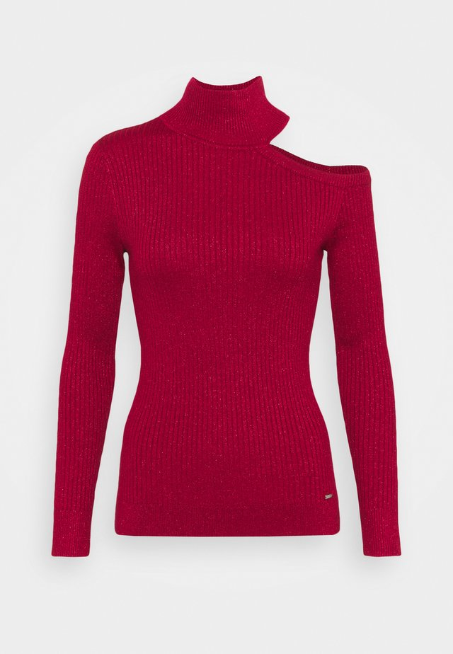 CUT OUT TURTLENECK  - Strickpullover - holiday red