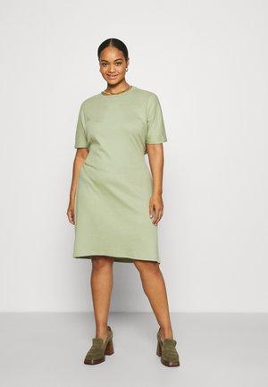 ELASTICATED WAIST DRESS - Jersey dress - green