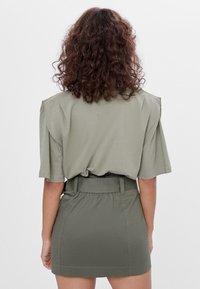 Bershka - A-line skirt - khaki - 2