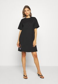 Diesel - EYESIE DRESS - Jersey dress - black - 0
