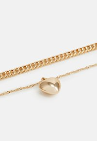 Topshop - HEART CHAIN MULTIROW 2 PACK - Necklace - gold-coloured - 2
