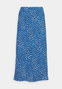 LEO MIDI SLIP SKIRT - A-line skirt - blue