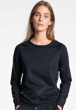 Long sleeved top - darkk lapis blue