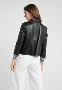 MAX&Co. - DENOTARE - Leather jacket - black - 2