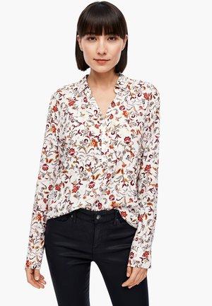 Button-down blouse - offwhite floral aop