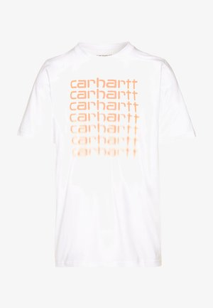 FADING SCRIPT - T-shirt con stampa - white/pop coral