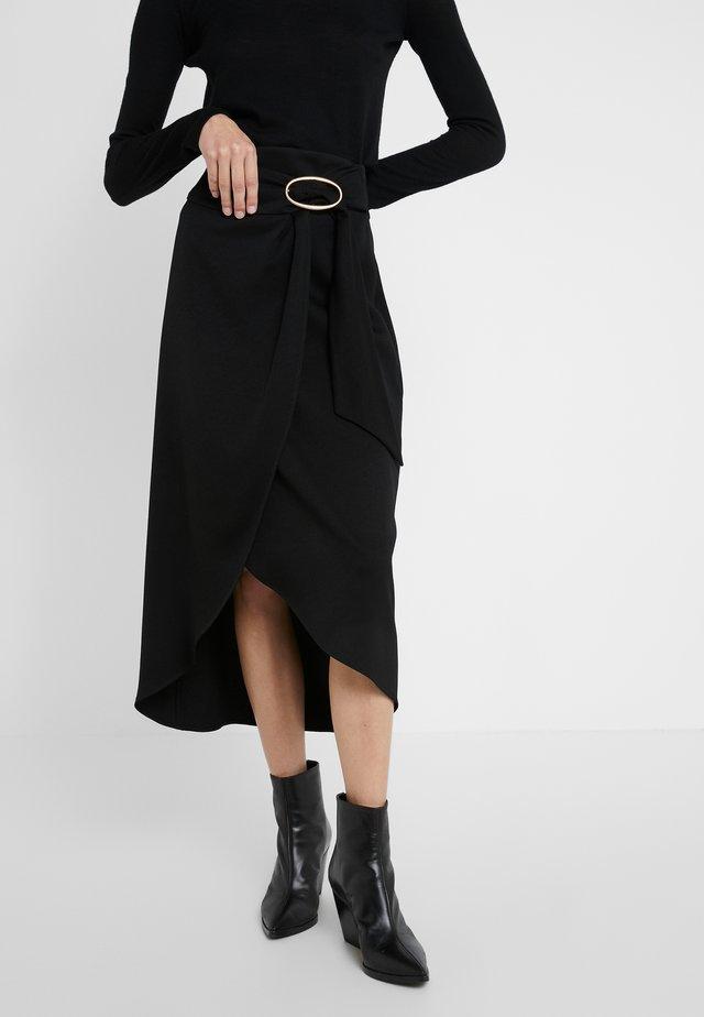 MOANA - Spódnica trapezowa - noir