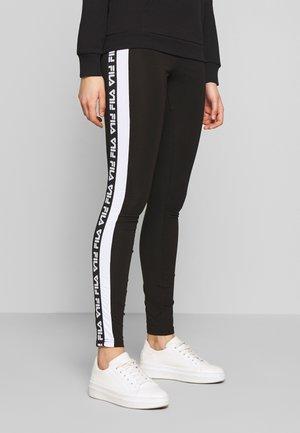 TASYA - Leggingsit - black/bright white