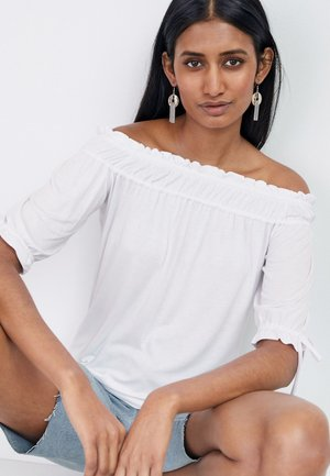RUCHED - Print T-shirt - white
