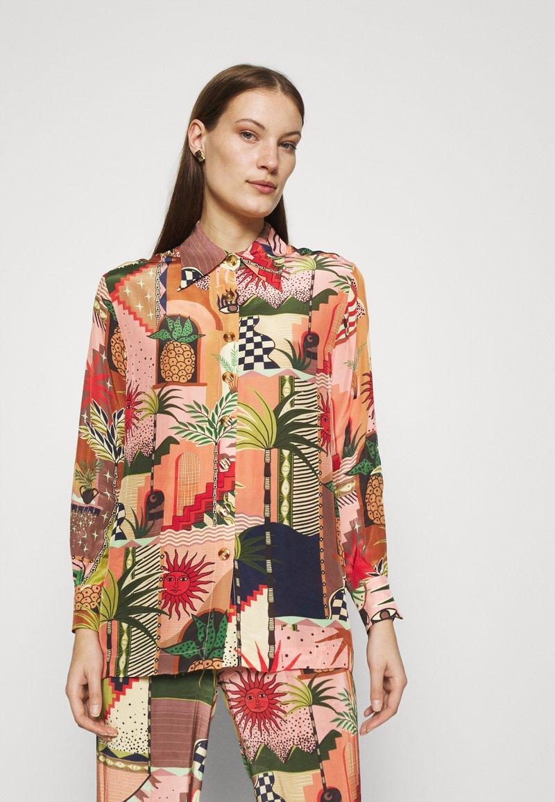 Farm Rio - MYSTIC CITY PAJAMA SHIRT - Button-down blouse - multi