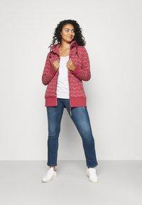 Ragwear Plus - NESKA PRINT ZIP - Zip-up sweatshirt - raspberry - 1