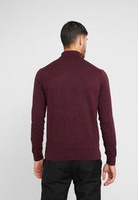 Burton Menswear London - CORE ROLL - Jumper - burgundy - 2