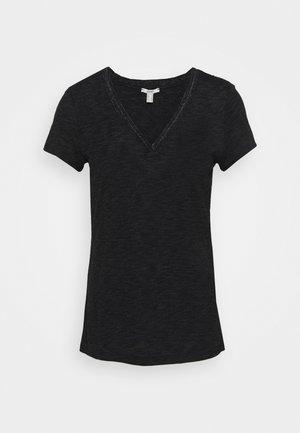 VNECK  - Print T-shirt - black
