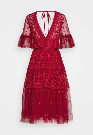 MIDSUMMER DRESS EXCLUSIVE - Juhlamekko - deep red