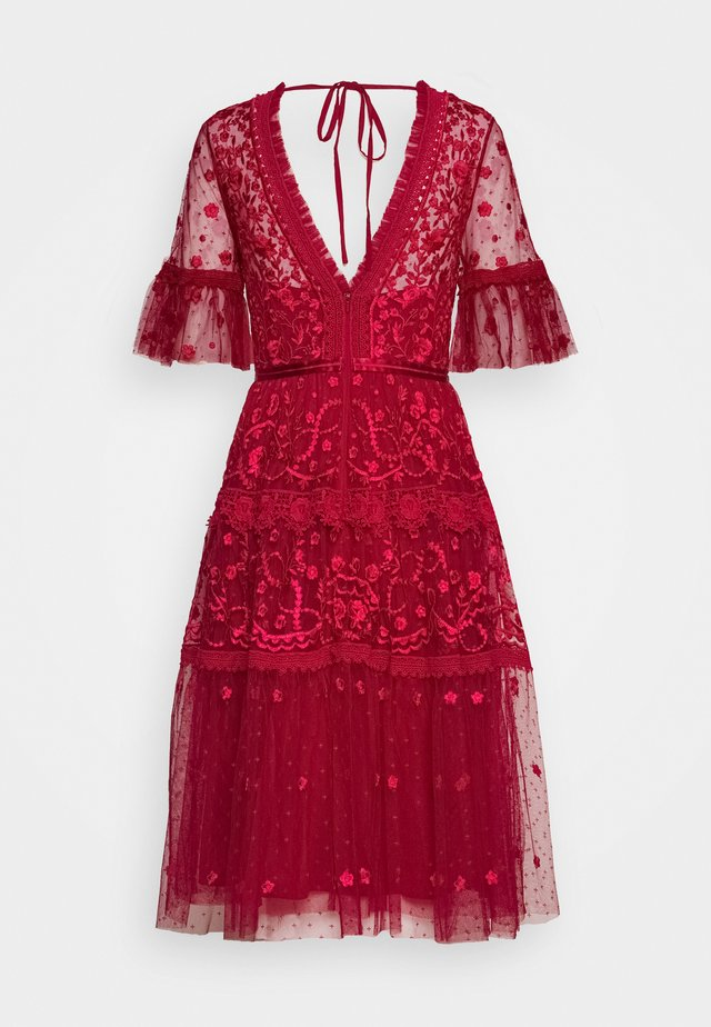 MIDSUMMER DRESS EXCLUSIVE - Vestido de cóctel - deep red