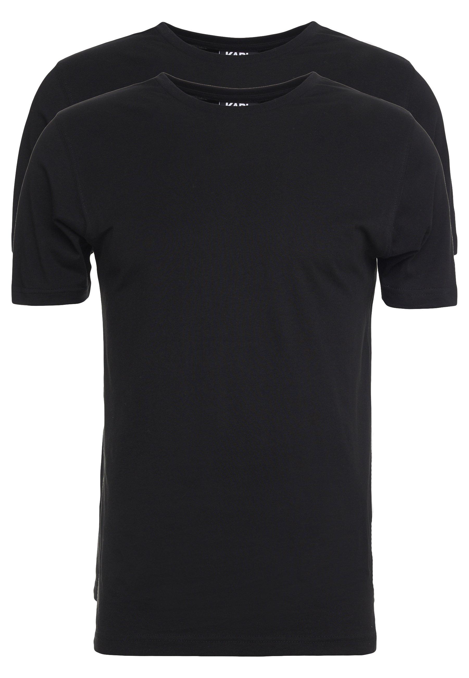 Karl Lagerfeld Crew Neck 2 Pack - T-shirts Black