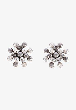 MAGIC FIREBALL - Earrings - weiß/antiksilberfarben