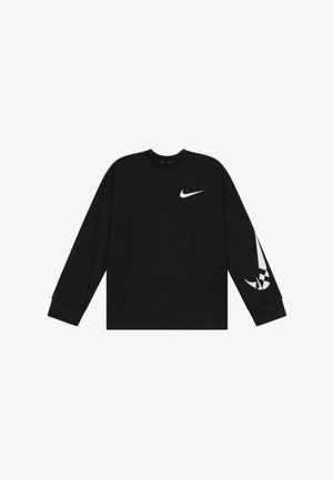 COMFORT - Fleecepullover - black/white
