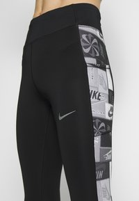 Nike Performance - FAST - Collants - black/reflective silver - 4