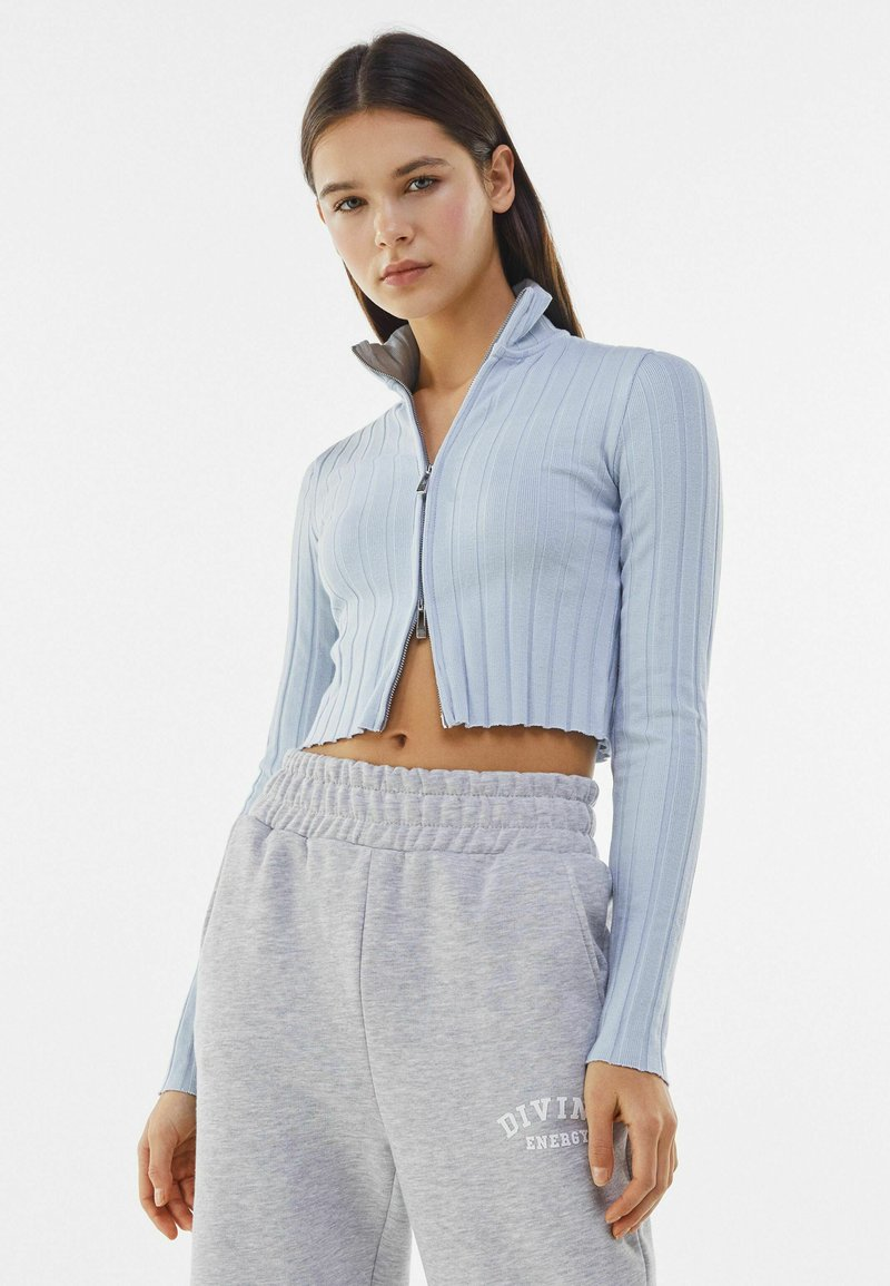Bershka - Cardigan - light blue